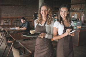 brown bar aprons- Mickey's Linen